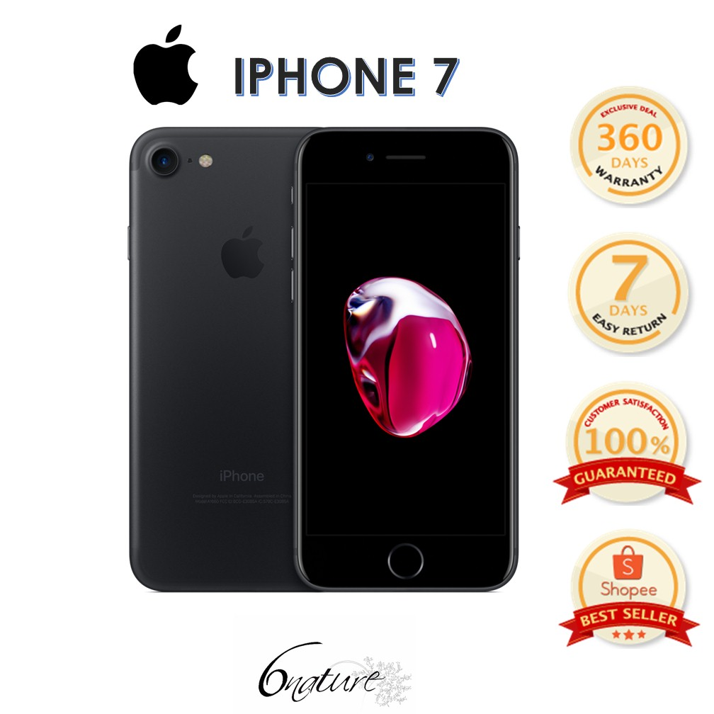 Used Apple Iphone 7 128gb Come With Adapter 100% Original Set Full box  (Black)