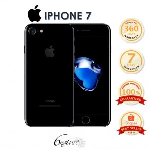 Used Apple Iphone 7 128gb Come With Adapter 100% Original Set Full box (JET Black)