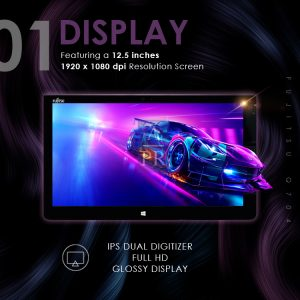 Fujitsu STYLISTIC Q704 Intel®️ 4th gen Core™️ i5-4200U 4GB 128GB W10Home (Factory Refurbished)